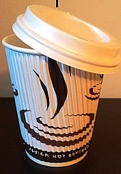 coffee cup with lid  12oz