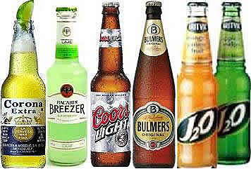 drinks online, beers bottles, beer cans, j20, coors light, corona extra, bulmers, bacardi breezers