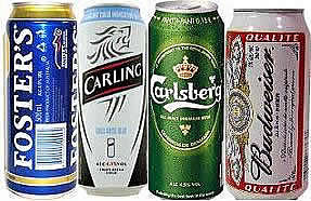 drinks online, beer cans, fosters, carling, carlsber, budweiser, whiskey, wines