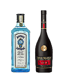 bombay saphire,   remy martin