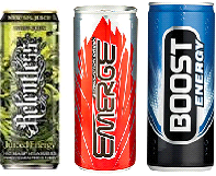 relentless, emerge, boost energy drinks